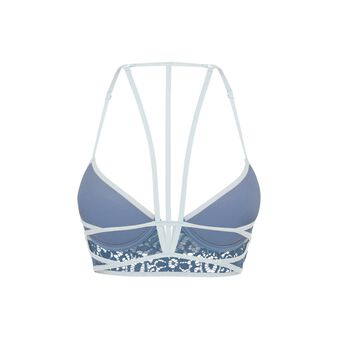 Vidiz blue push-up bustier bra blue.