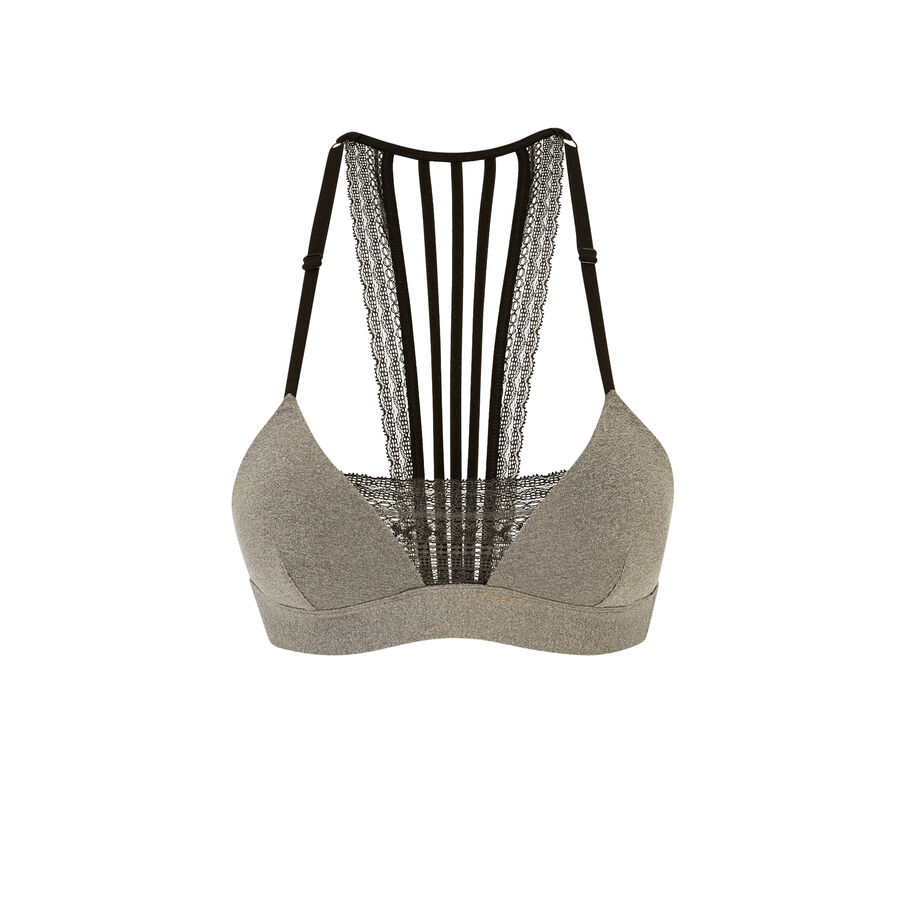 Nooniz grey triangle bra;