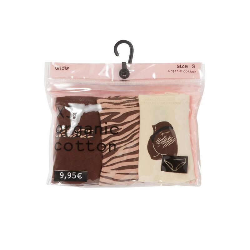 pack of 3 mood zebra panties - brown;