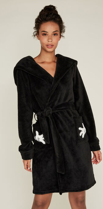 Cutmiz black dressing gown black.
