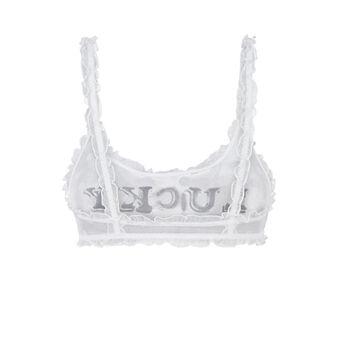 Blousiz white sports bra white.
