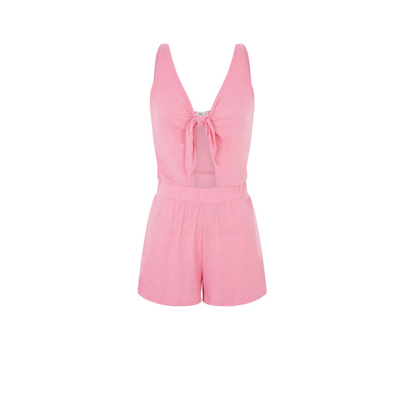 Playsuit with front tie - pink;