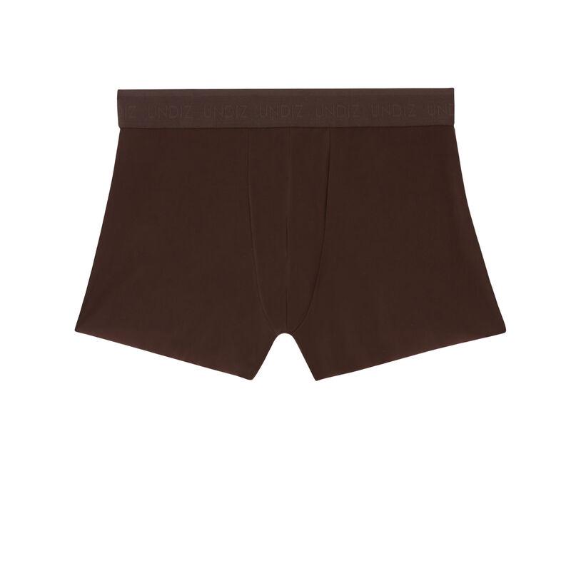 plain microfibre boxers - brown;