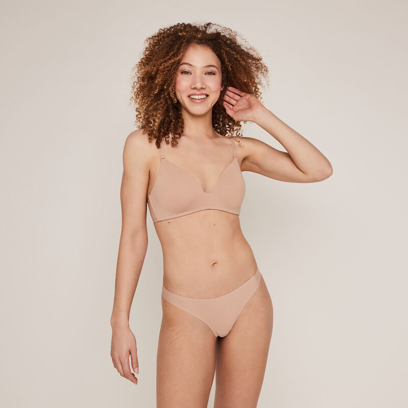 Non-wired padded bra - nude;