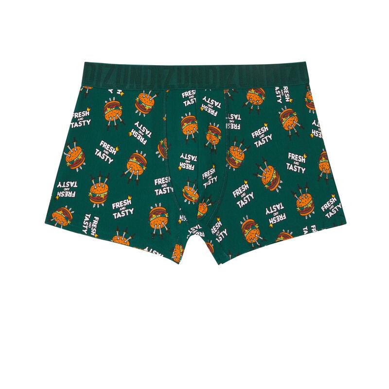 burger boxers - fir green;