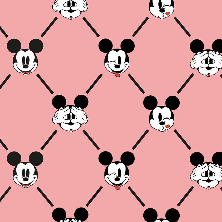 Versaqueeniz Mickey logo wide trousers;
