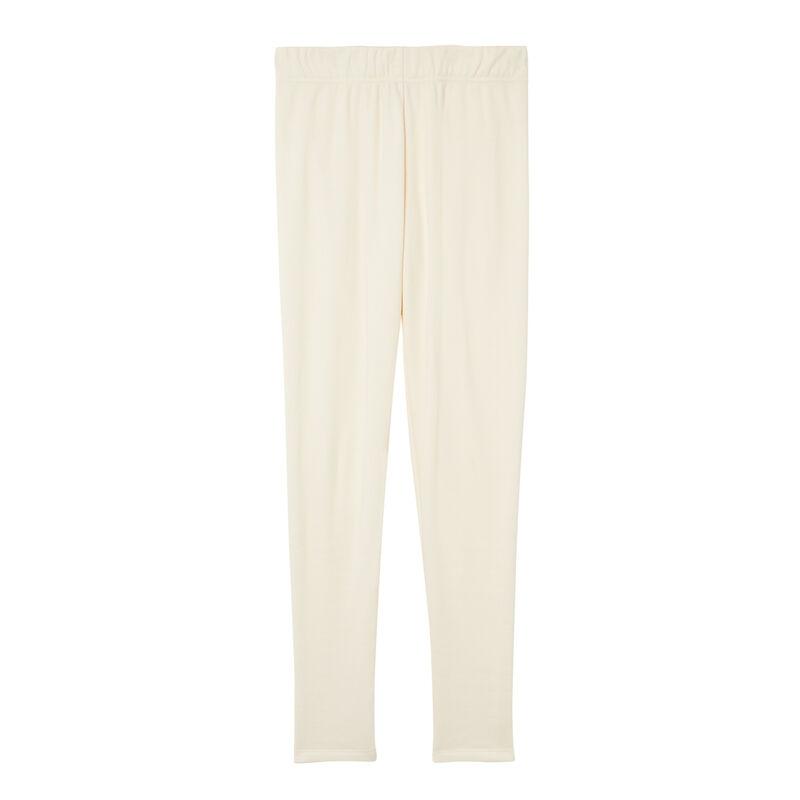 ocieplane legginsy — złamana biel;