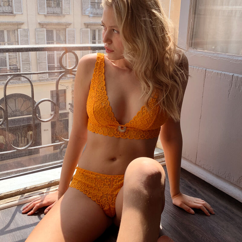 Lace hipsters - orange;