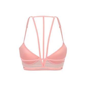 Simpliz pink push-up bustier bra pink.