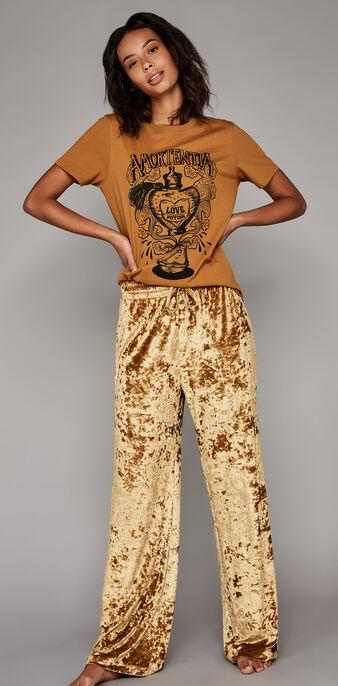 Золотисто-коричневые брюки refimiz golden brown.