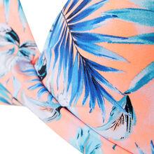 Pfirsichfarbenes bikini-oberteil in push-up-form aquarelliz pink.
