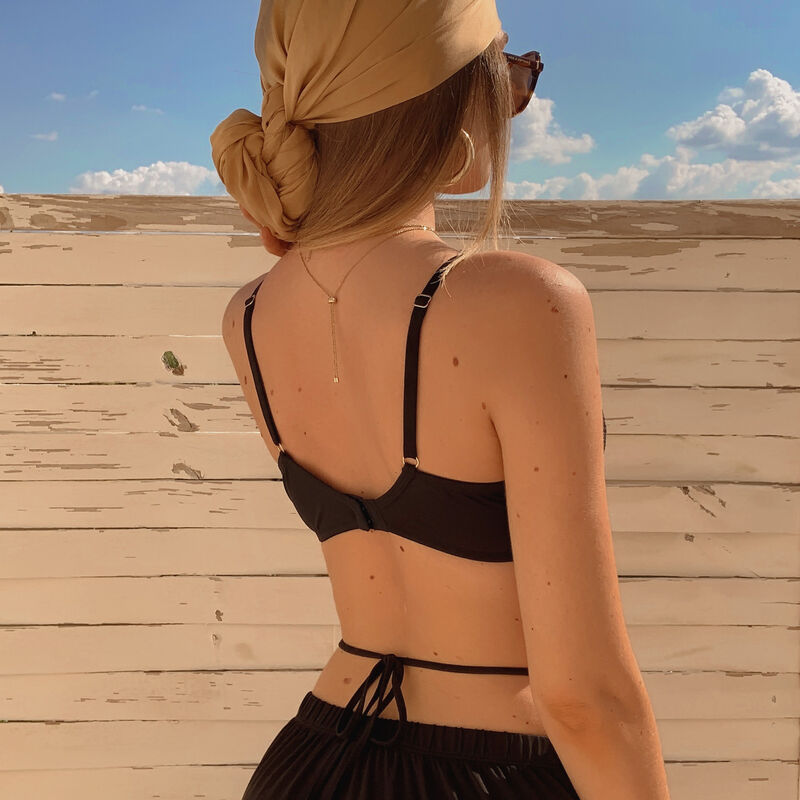 Corset effect bra - black;