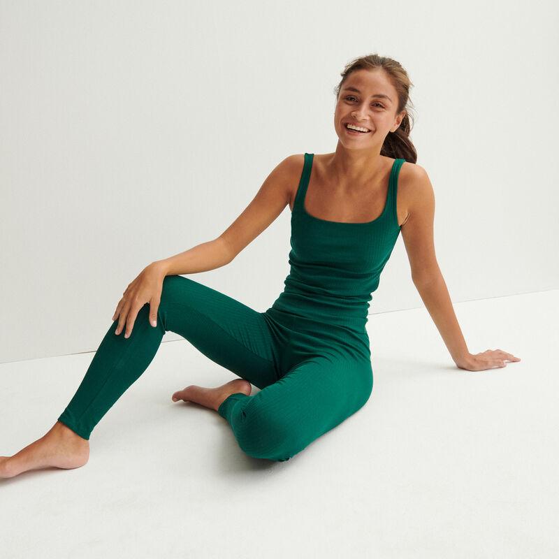 plain legging - dark green;