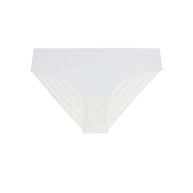 microfibre plain briefs - cream;
