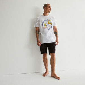 banana print pyjama set - white