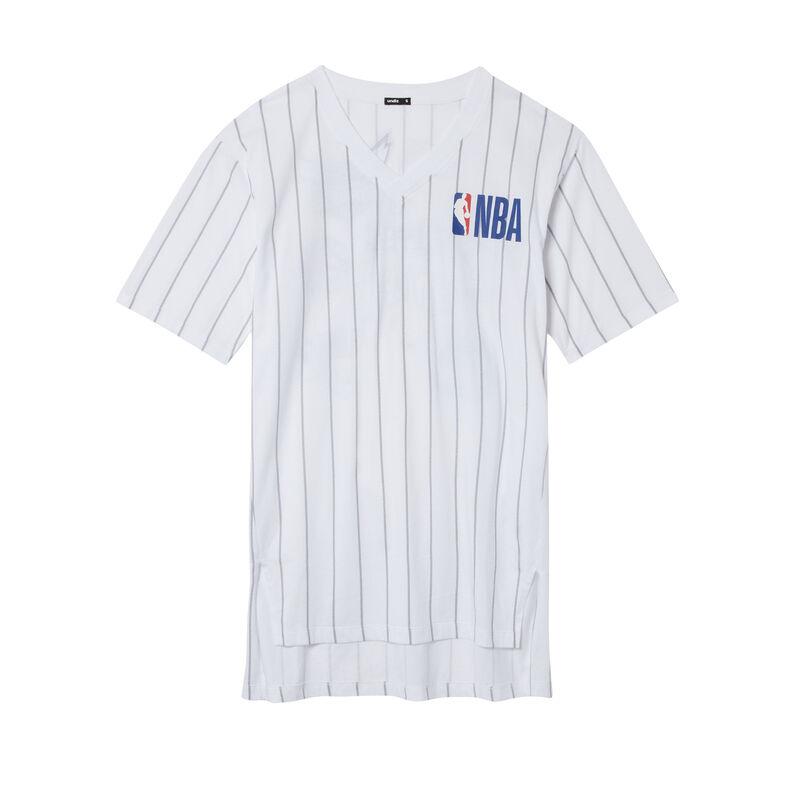 NBA team V-neck tunic - white;