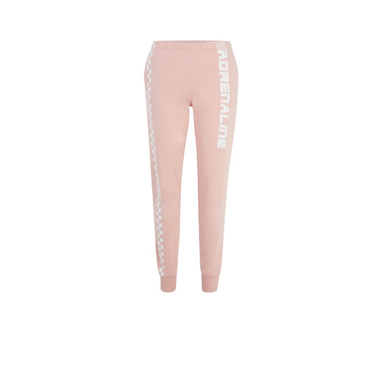 Adreliniz pale pink jogging bottoms;