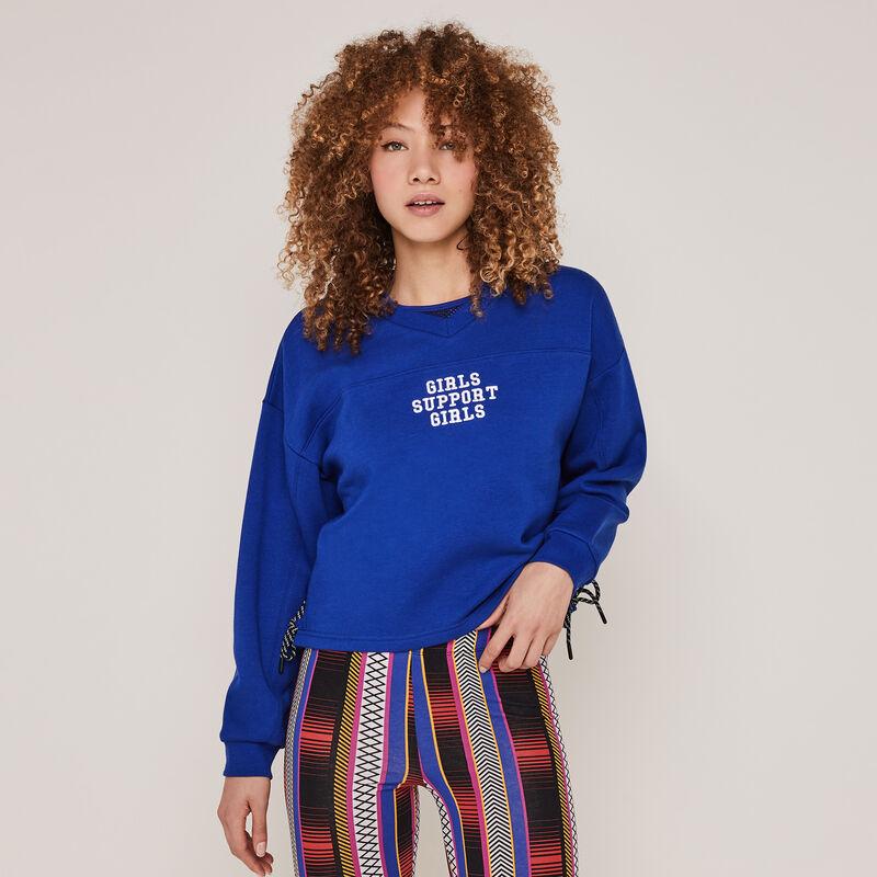 Babydrawstriz sweatshirt with lacing detail;