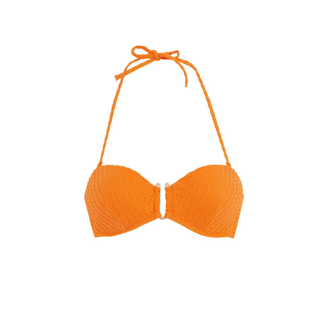 Оранжевый верх купальника бандо funbraidiz;