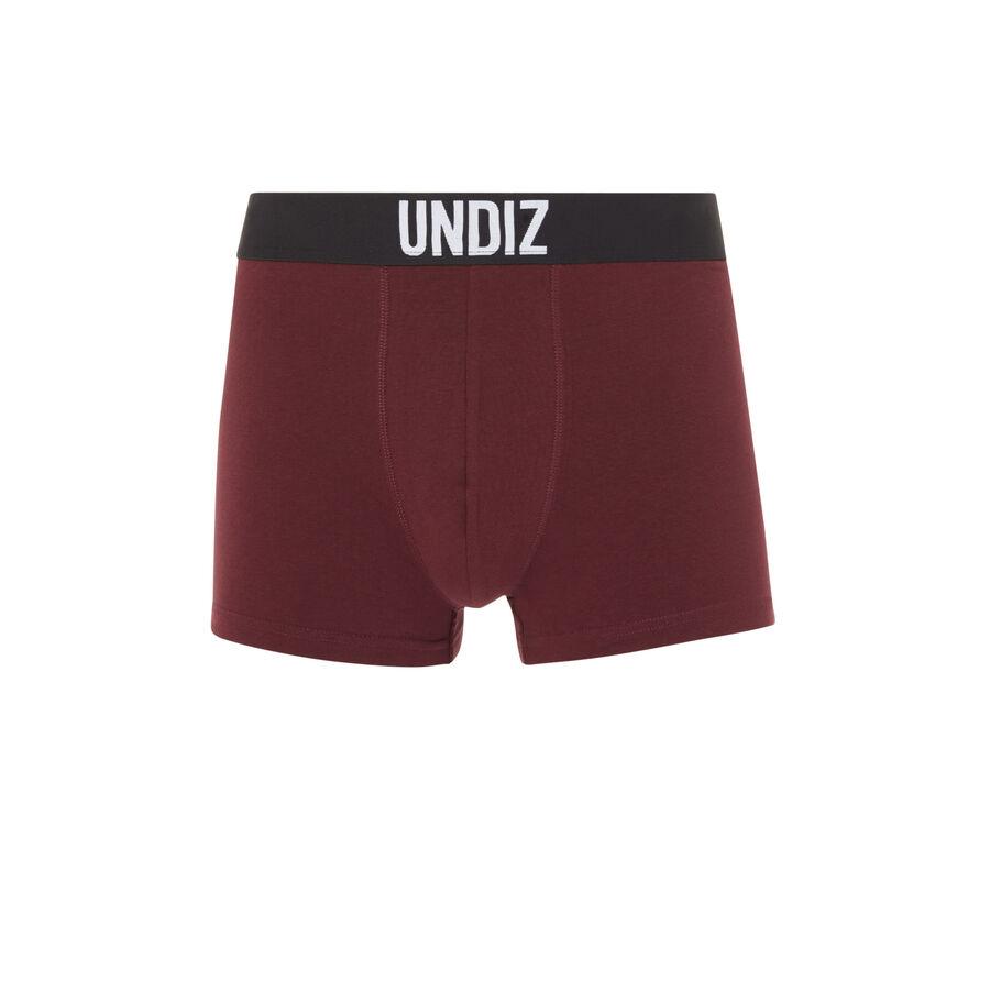 Mycandiz burgundy cotton boxers;
