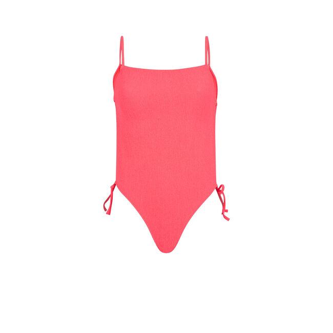 Jaskraworóżowy jednoczęściowy kostium kąpielowy sikiniz;