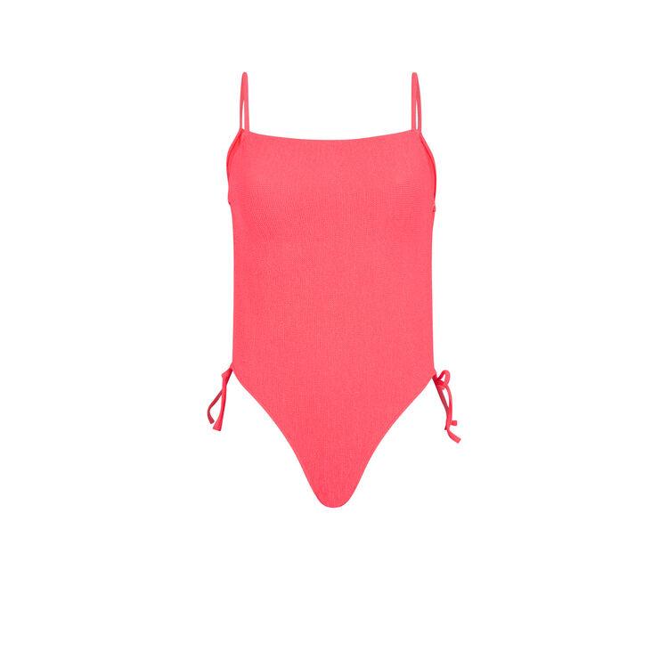 Sikiniz fluorescent pink one-piece swimsuit;