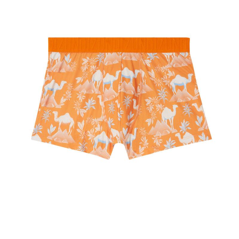desert print boxers - orange;