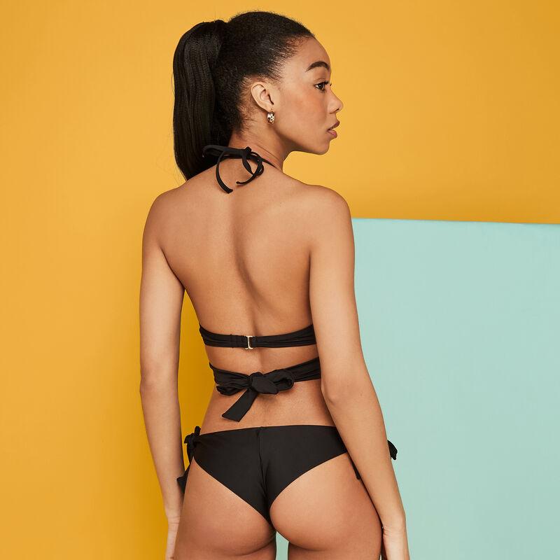 Schwarzes Super-Push-UP-Bikini-Oberteil Fusioniz;