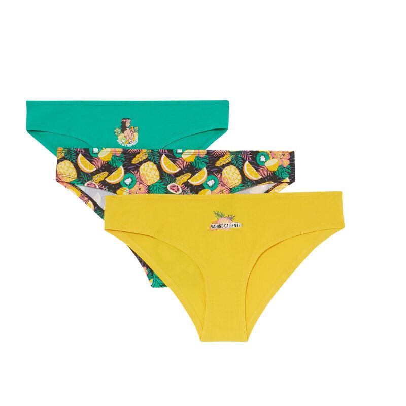Set of 3 hawaii briefs - green;