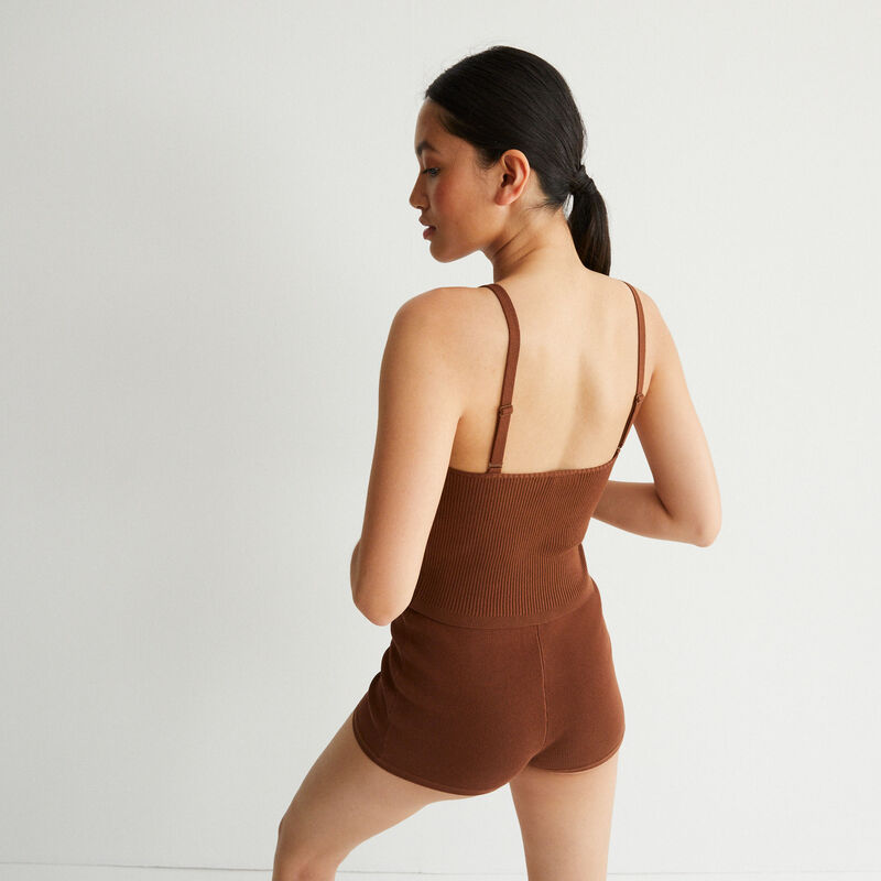 Jersey cycling shorts - brown;