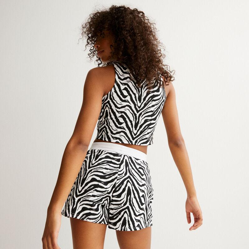 The Lion King zebra print shorts - black;
