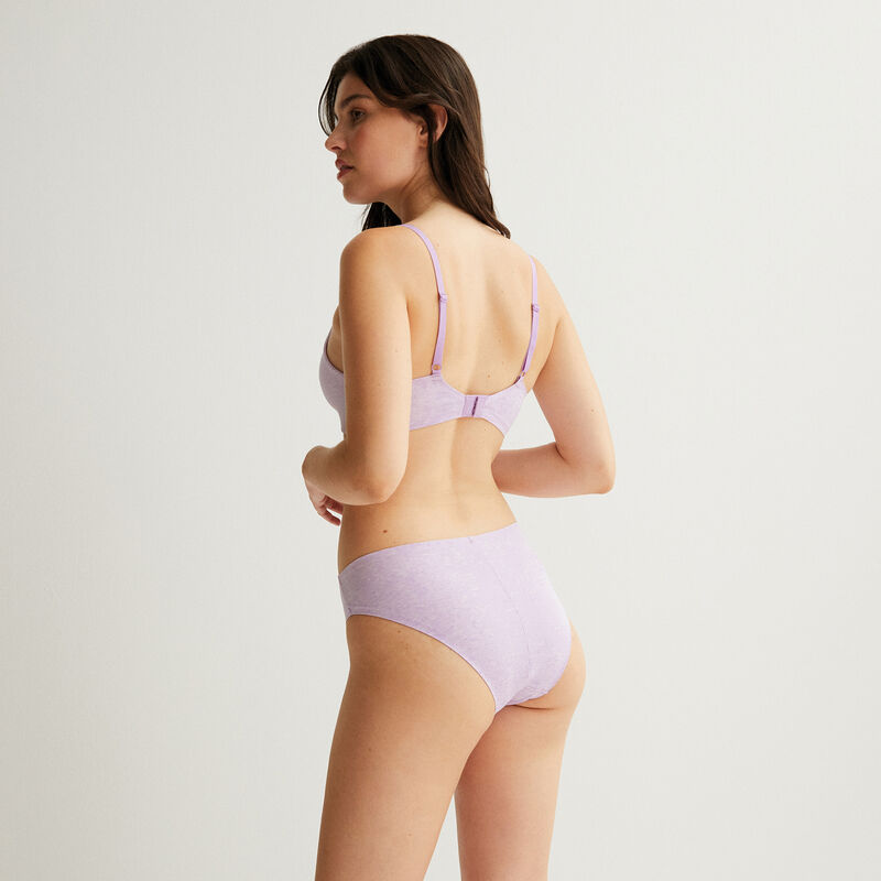 non-wired push-up bra - lilac;
