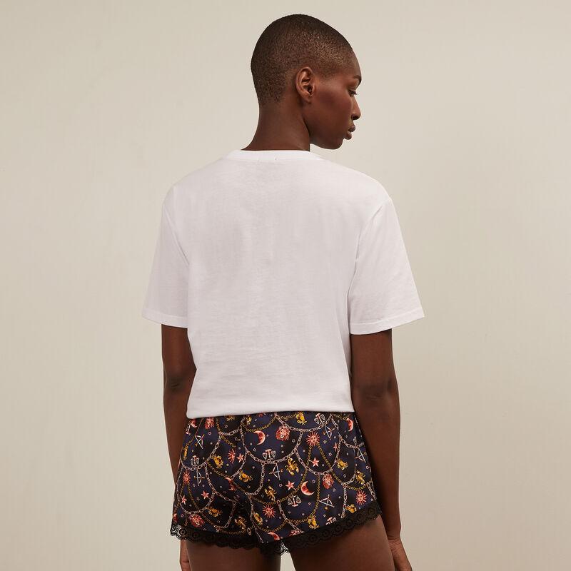 Astro print shorts - black;