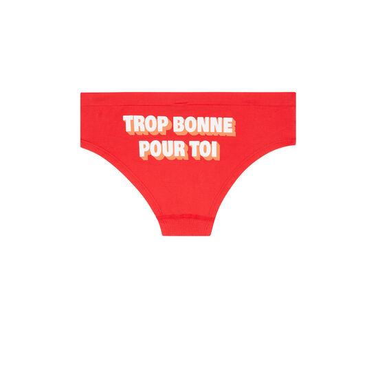 Trobonniz red shortie brief;