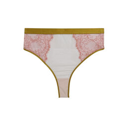Laceblockiz light pink high-waisted tanga pink.