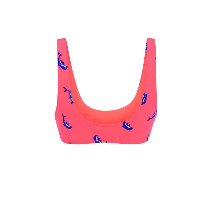 Bikini-Oberteil in Neon-Pink Flipperiz;