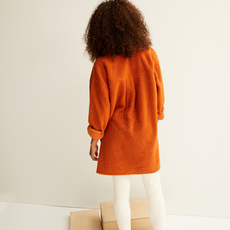 oversized loop jacket - camel;