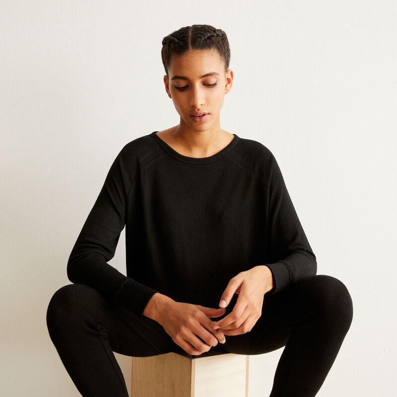 long-sleeved top - black ;