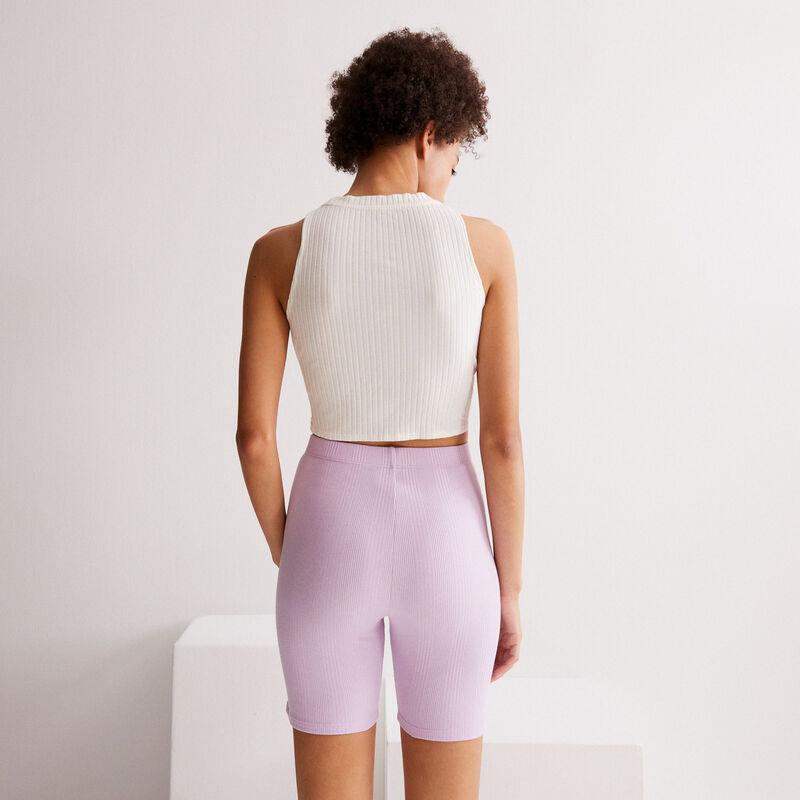 gładkie kolarzówki — kolor lila;