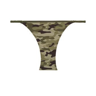 Camouiz khaki green bikini bottom green.