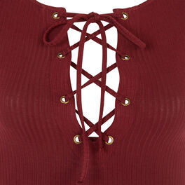 Dilitiz burgundy bodysuit brown.