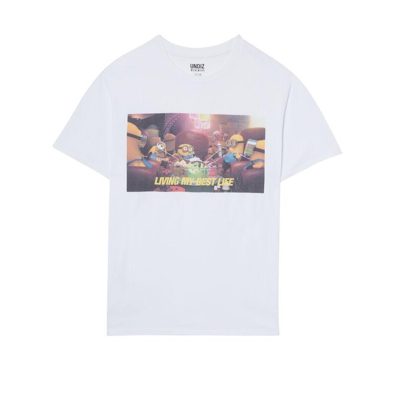 Minions print T-shirt - white;
