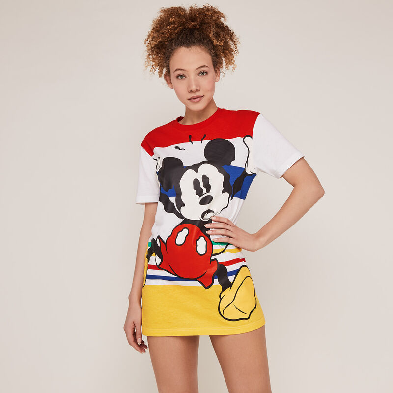 Mickey tunic print - cream;
