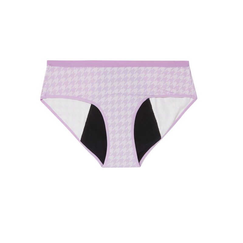менструальные трусики с рисунком «Гусиные лапки» - лиловый;