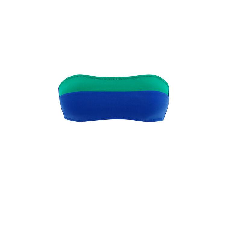 Smaragdgrünes Bandeau-Oberteil Colorsurfiz;