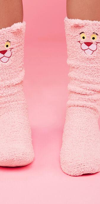 Chaussettes hautes rose pantherosiz pink.