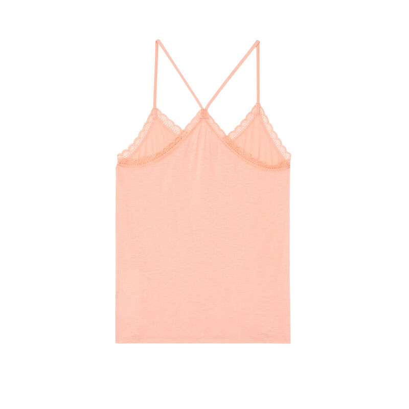 jersey top with spaghetti straps - pink;