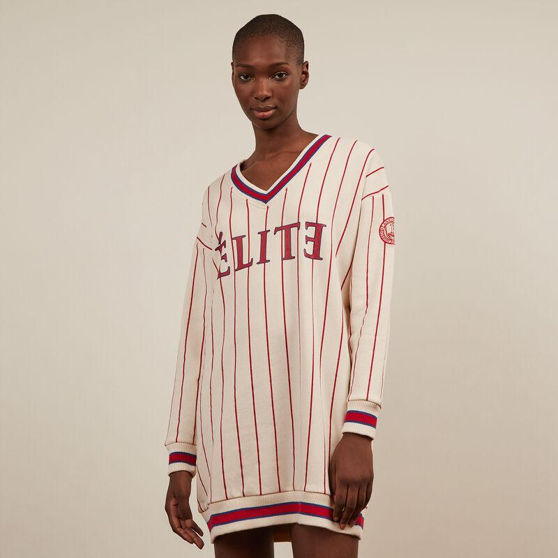 Elite striped sweater dress - beige ;