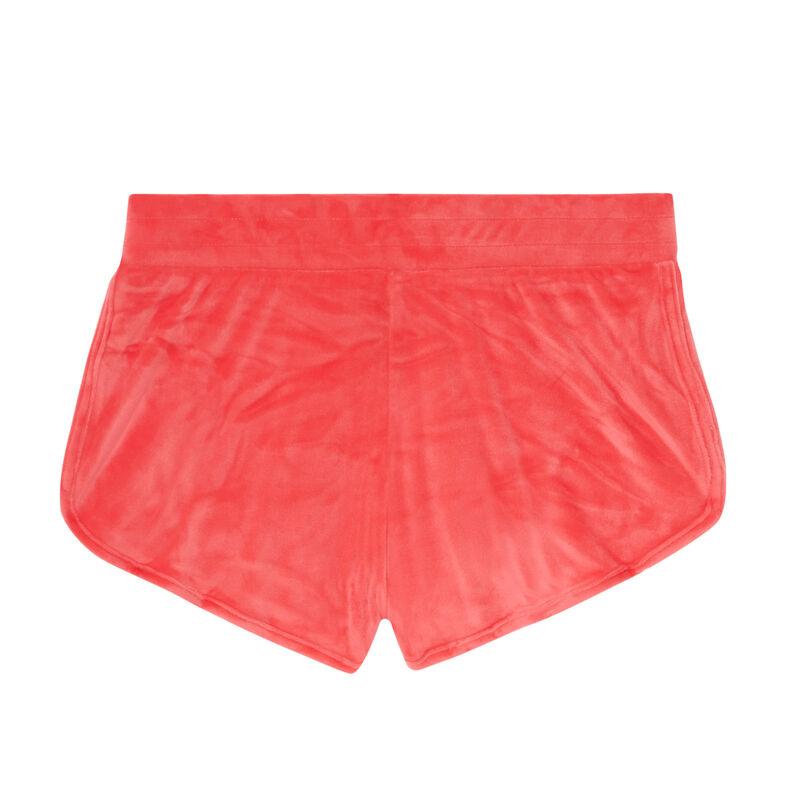 Tweety printed velour shorts - coral;