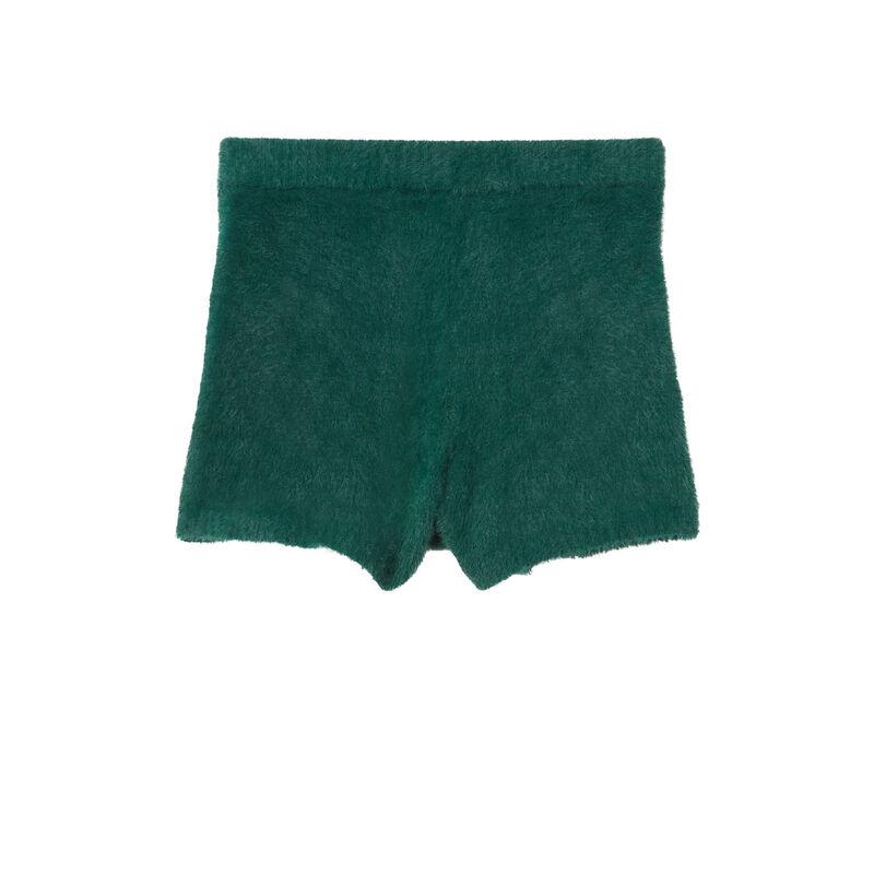 fleece shorts - fir green;